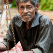 Seller on local market in Sri Lanka - April 2, 2014 — Stock Photo #44526533