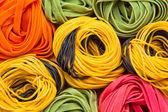 Colorful tagliatelle — Stock Photo