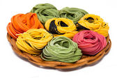 Colorful tagliatelle — Stockfoto
