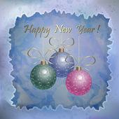 Tarjeta de año nuevo hermoso — Vector de stock