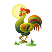 Funny rooster — Stock Vector
