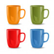 Set of colored mugs — Stock Vector #18183421