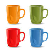 Set of colored mugs — Stock Vector