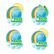 Environmental stickers — Stock Vector