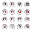 Internet web icons set — Stock Vector