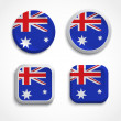 Australia flag buttons — Stock Vector