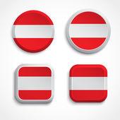 Austria flag buttons — Stock Vector