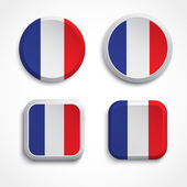 France flag buttons — Stock Vector