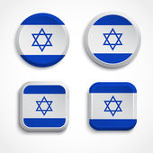 Israel flag buttons — Stock Vector