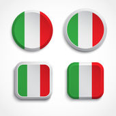 Italy flag buttons — Stock Vector