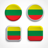 Lithuania flag buttons — Stock Vector
