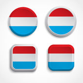 Luxemburg flag buttons — Stock Vector