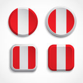 Peru flag buttons — Stock Vector