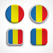 Romania flag buttons — Stock Vector