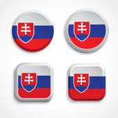 Slovakia flag buttons — Stock Vector