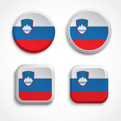 Slovenia flag buttons — Stock Vector