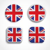 Britain flag buttons — Stock Vector