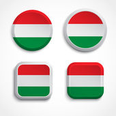 Hungary flag buttons — Stock Vector