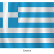 Greece vector flag — Stock Vector