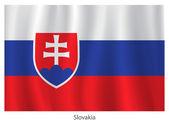 Slovakia vector flag — Stock Vector
