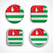Abkhazia flag buttons — Stock Vector