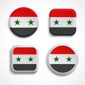 Syria flag buttons — Stock Vector