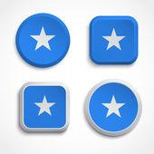 Somalia flag buttons — Stock Vector