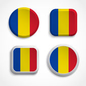Chad flag buttons — Stock Vector