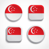 Singapore flag buttons — Stock Vector