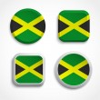 Jamaica flag buttons — Stock Vector