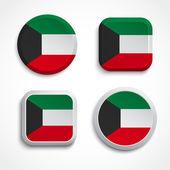 Kuwait flag buttons — Stock Vector