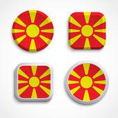 Macedonia flag buttons — Stock Vector