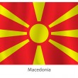 Stock Vector: Macedoniflag