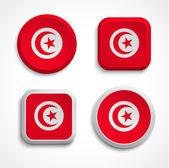 Tunisia flag buttons — Stock Vector