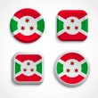 Burundi flag buttons — Stock Vector #30115187