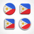 Philippines flag buttons — Stock Vector
