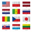 Set of flags — Stock Vector #33291055