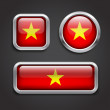 Vietnam  flag glass buttons — Stockvectorbeeld