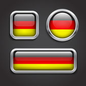 Germany flag glass buttons — Stock Vector