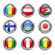 World flags round buttons — Stock Vector #34684421