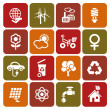 Set of ecology icons — Stock Vector