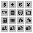 Financial and money icon set — Stock Vector
