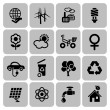 Set of ecology icons — Stock Vector #35556861
