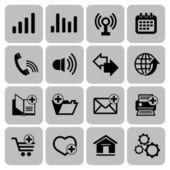Web icons set — Stockvector