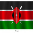 Kenya flag — Stock Vector