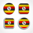 Uganda flag icons — Stock Vector