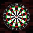 Dart board — Stockvektor #16855115