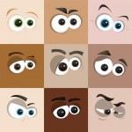 Cartoon Faces — Stock Vector #39345425