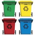 Recycle Bins — Stock Vector #46527747