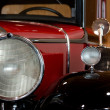Headlights and mirrors of an antique car — Stock Photo